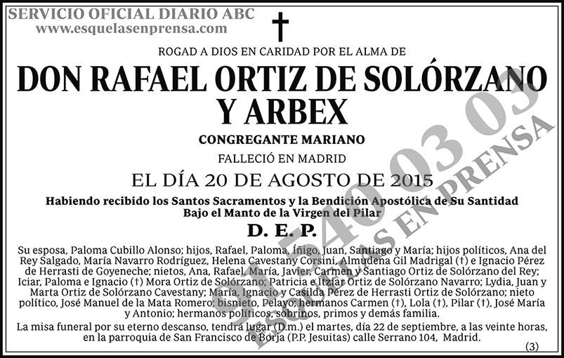 Rafael Ortiz de Solórzano y Arbex